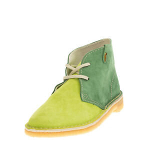 GINEVRA Suede Leather Chukka Boots EU 35 UK 2 US 5 Crepe Sole Made in Italy