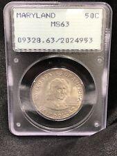 1934 Maryland 50C PCGS MS63 Comparative Half Dollar
