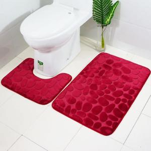 Embossing Bath Mat for Bathroom Memory Foam Shower Carpet Mat Toilet Rugs Shower