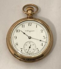 Vintage 1900 Elgin 14k GF 17J 16s Grade 244 Adjusted Pocket Watch