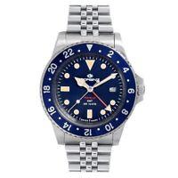 Orologio Lorenz Travel-24 GMT swiss made blu - 40 mm 090001BB