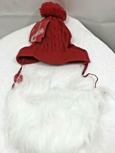 Cable Knit Small Cat / Dog Red Hat & White Beard Wondershop™ Pet Santa Costume