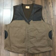 CORONADO LEATHER VEST w/ inside Gun Pockets Size 50 Shooting Conceal Carry