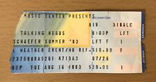 1983 Talking Heads Philadelphia Concert Ticket Stub Speaking In Tongues Tour
