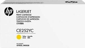 HP GENUINE ORIGINAL CE252YC YELLOW Y LASER PRINTER TONER CARTRIDGE CE252A 504A