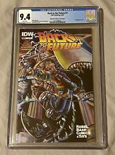 Back to the Future #1 CGC 9.4 White Pages Rebel Base Comics Wraparound Cover!