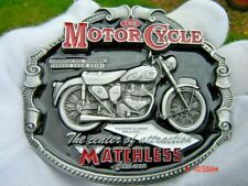 Matchless motorcycle belt buckle classic bike