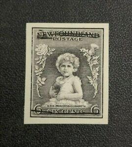 Newfoundland Stamp #192 Black Defaced Proof Mint No Gum