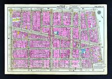 1921 New York City Map Manhattan Little Italy Chinatown Soho - Canal & Broadway