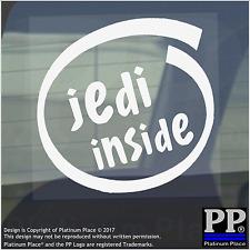 1 x Jedi all'interno-Finestra, Auto, Furgone, STICKER, SEGNO, veicolo, Stella, guerre, spazio, Saber, luce
