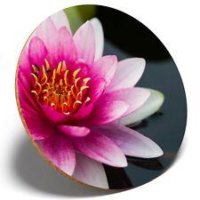 1 x Pretty Lotus Flower Nature - Round Coaster Kitchen Student Kids Gift #3762