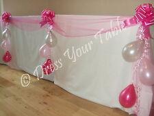 Wedding Reception Top Table Decoration Pack - Organza, Bows & Balloons