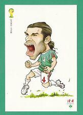 FOOTBALL - DUHZE POSTCARD OF CHINA - FOOTBALL WORLD CUP 2014  -  RAFAEL  MARQUEZ