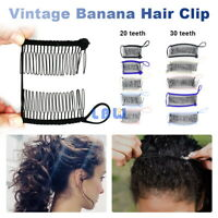 Jumbo Banana Comb Clip Thick Hair Riser Claw Interlocking Jaw Extra Large USA