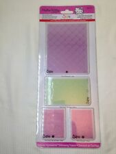 4 Hello Kitty SIZZIX Textured Impressions Folders Dies 656148 Spring Set
