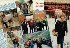Coupure de Presse Clipping 1984 (2 pages) Liz Taylor en Chine