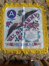 Ww2 Rare 3rd Army Pillow Sham Fort Bragg, Nc Souvenir Cover