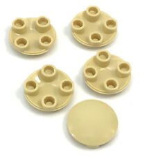 Lego Lot of 5 New Tan Plates Round 2 x 2 with Rounded Bottom Boat Stud Parts