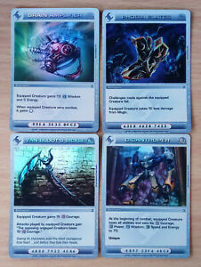Chaotic Cards Lot #015 ( 4 ) Super Rare Powerful Battlegears