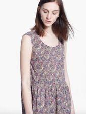MANGO beautiful floral garden print crinkle effect smock dress size XS 8 - 10