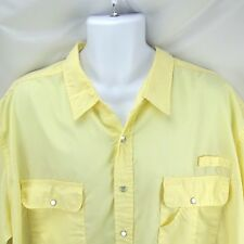 Men's Dress Shirt Short Sleeve 3X Haband Travelers Yellow Safari