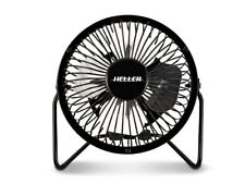 Heller 10cm High Velocity Ultra Quiet Mini Metal Black Fan USB Powered HVF10UBK