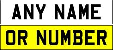 STICK ON NUMBER PLATE - REFLECTIVE WHITE ANY TEXT*FREE POSTAGE** UK SELLER