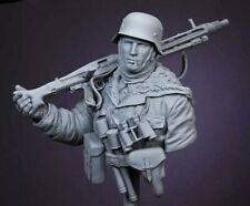 1:10 Veteran German Soldier Resin Bust Model Kit Unfinished