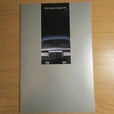 Lincoln Mark VII 5.0 V8 COUPE USA American Market brochure juillet 1990 pour 1991