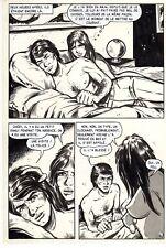 LA MORT AUX CHATS (JACQUES GERON) PLANCHE ORIGINALE PAGE 26 PIN-UP