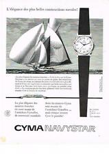 PUBLICITE ADVERTISING  1958  CYMA  montre NAVYSTAR