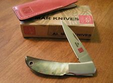 AL MAR New Black Lip Mother of Pearl Handle 1 Blade Hawk Lockback Knife/Knives