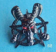 Satan Pentagramm rote Augen Alchemie Skull Gothik Pin Button Badge Anstecker 68