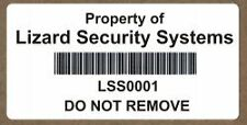 Single Colour Barcode Asset PAT Test Marking Labels