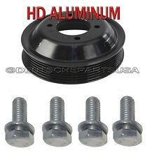 HEAVY DUTY Aluminum Water Pump Pulley + Install Bolts E46 Z3 E53 X5 E83 X3 Set 5
