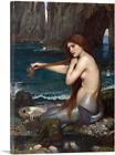 ARTCANVAS A Mermaid 1900 Canvas Art Print by John William Waterhouse