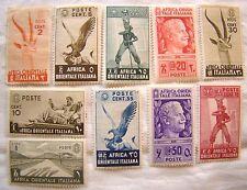 Italy East Africa Stamp Set 1938 Scott 1 2 4 - 6 8 - 12 Unused