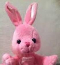 "Barbie Pink BUNNY Rabbit Plush 2001 Mattel Pink Ribbon 7"" tall Easter Bean Bag"