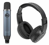 Blue Ember Side-Address Cardioid Condenser Recording Microphone Mic+Headphones