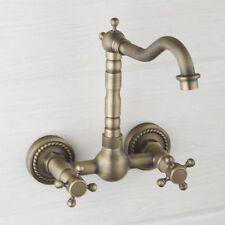 Robinet mitigeur douche mural en Laiton antique+baignoire salle de bain