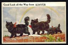 Collectible Antique Vintage Cat Novelty Flap Postcard:Kitty Cats from Kinver,UK