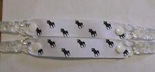 pr mitten glove clips baby girl boy kids polo pony white ribbon black horse xmas