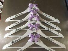 4 x Personalised Wedding Hangers Bridal Prom - Bridesmaid/Wedding Dress/Gift