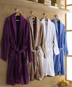 100% Egyptian Cotton Terry Shaw Collar Men's & Ladies Bathrobe Dressing Gown