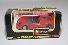V 1:43 BBURAGO BURAGO 4152 FERRARI F50 F 50 RED MINT BOXED