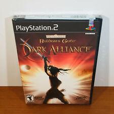 Baldur's Gate: Dark Alliance (PS2) Rare 1st Print Black Label Sealed! Near-Mint!