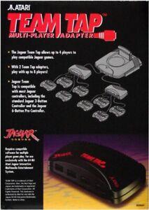 Atari Jaguar Team Tap 4 Multi - Player  Game Console  Adapter 64 - BIT NEW