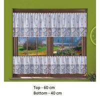 KITCHEN BATHROOM WHITE  NET CURTAIN  - SOLD BY METERS