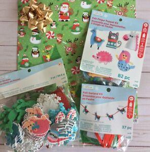 Creatology Christmas Craft Kits Finger puppets + Garland + Foam Unicorns Sloth