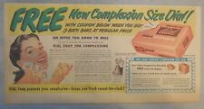 Dial Soap Ad: Free ! New Complexion Size Dial ! 1950's